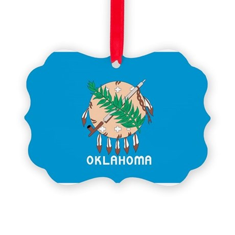 Oklahoma State Flag Picture Ornament