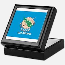 Oklahoma State Flag Keepsake Box