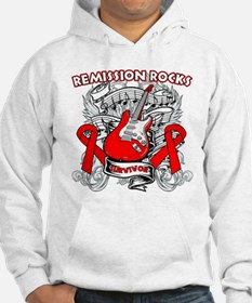 Remission Rocks Blood Cancer Hoodie