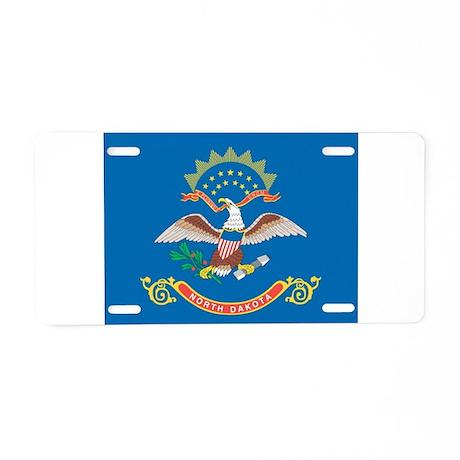 North Dakota State Flag Aluminum License Plate