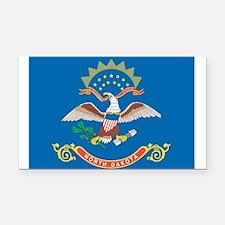 North Dakota State Flag Rectangle Car Magnet