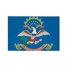 North Dakota State Flag Rectangle Magnet