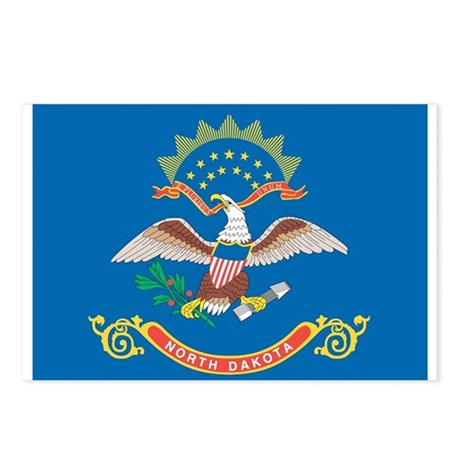 North dakota state flag postcards package of 8 by for North dakota state flag coloring page