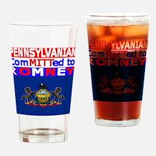 pennsylvaniaromneyflag.png Drinking Glass