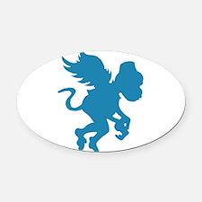 Flying Monkey Oval Car Magnet