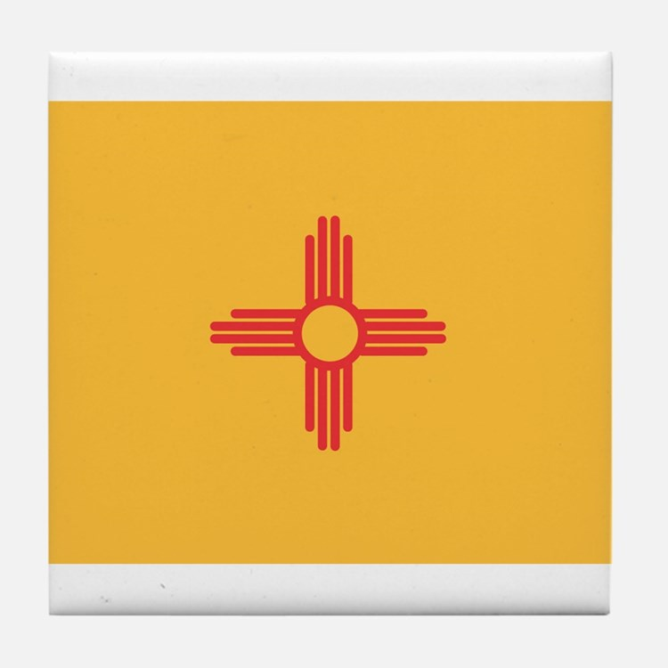 New Mexico State Flag Tile Coaster