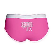 BDB initials, Pink Ribbon, Women's Boy Brief