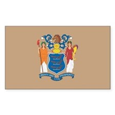 New JerseyState Flag Decal