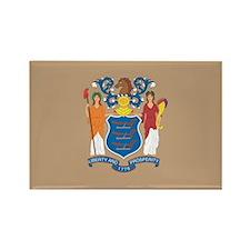 New JerseyState Flag Rectangle Magnet