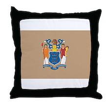 New JerseyState Flag Throw Pillow