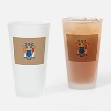 New JerseyState Flag Drinking Glass