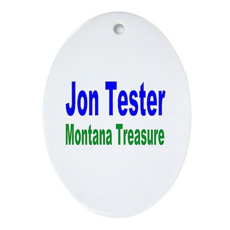 Jon Tester, Montana Treasure Oval Ornament