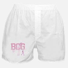 BCG initials, Pink Ribbon, Boxer Shorts