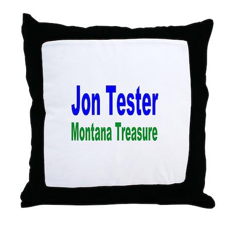 Jon Tester, Montana Treasure Throw Pillow