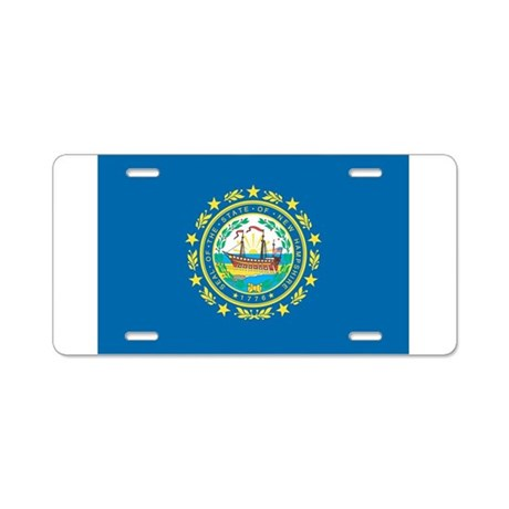 New Hampshire State Flag Aluminum License Plate