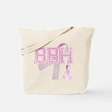 BBH initials, Pink Ribbon, Tote Bag
