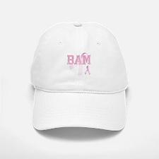 BAM initials, Pink Ribbon, Baseball Baseball Cap