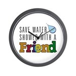 Shower with a Friend Wall Clock