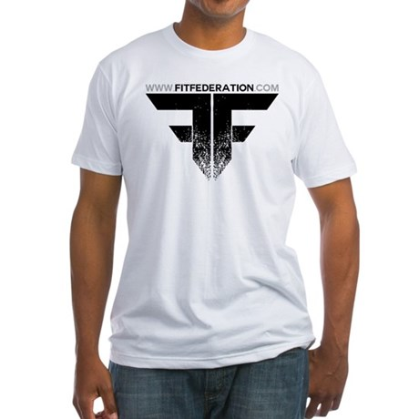 FF Logo Black on White Fitted T-Shirt