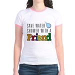Shower with a Friend Jr. Ringer T-Shirt