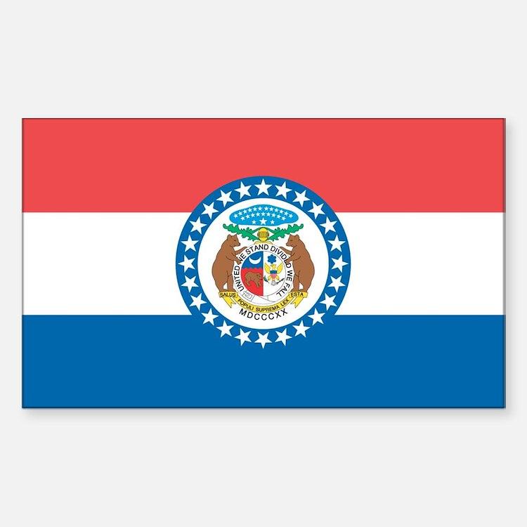 Missouri State Flag Sticker (Rectangle)