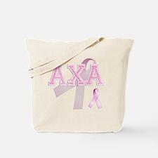 AXA initials, Pink Ribbon, Tote Bag