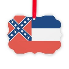 Mississippi State Flag Picture Ornament