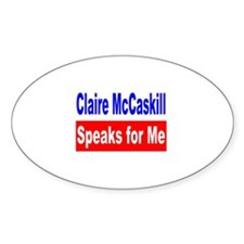 Democrat Claire McCaskill, MO Oval Decal