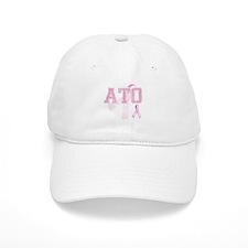 ATO initials, Pink Ribbon, Baseball Cap
