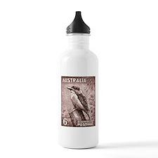 1937 Australia Kookaburra Stamp Water Bottle