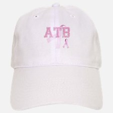 ATB initials, Pink Ribbon, Baseball Baseball Cap