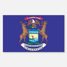 Michigan State Flag Decal