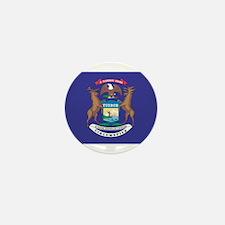 Michigan State Flag Mini Button (10 pack)