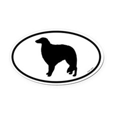 Borzoi Oval Car Magnet