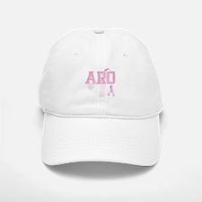 ARO initials, Pink Ribbon, Baseball Baseball Cap