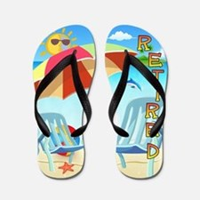 Tropical Retirement Flip Flops