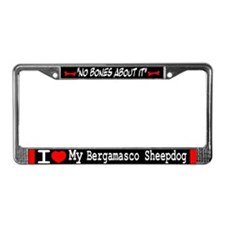 NB_Bergamasco Sheepdog License Plate Frame