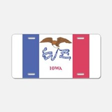 Iowa State Flag Aluminum License Plate