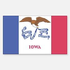 Iowa State Flag Stickers