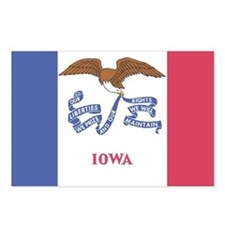Iowa State Flag Postcards (Package of 8)