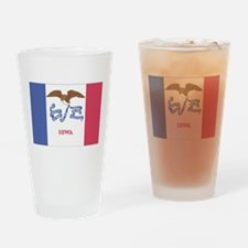 Iowa State Flag Drinking Glass