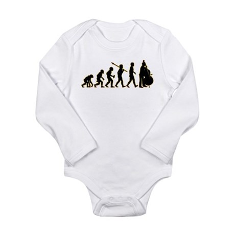 Double Bass Long Sleeve Infant Bodysuit