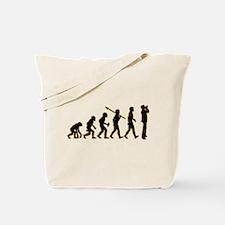 Harmonica Player Tote Bag