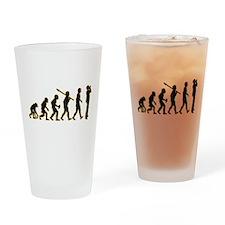 Harmonica Player Drinking Glass