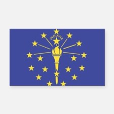 Indiana State Flag Rectangle Car Magnet
