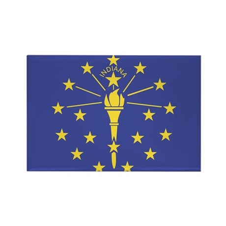 Indiana State Flag Rectangle Magnet