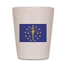 Indiana State Flag Shot Glass
