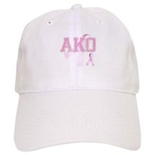 AKO initials, Pink Ribbon, Baseball Cap