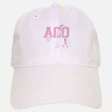 ACO initials, Pink Ribbon, Baseball Baseball Cap