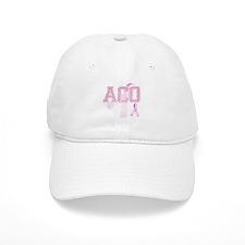 ACO initials, Pink Ribbon, Baseball Cap